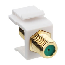 Construct Pro™Gold-Plated 3Ghz F-Connector Keystone Insert (White) CON3021W