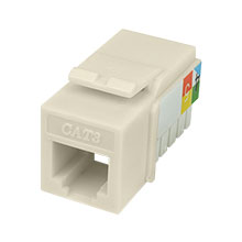 Construct Pro™ Cat3 Keystone Jack 6P4C (Light Almond)