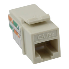 Construct Pro™ Cat5e Keystone Jack (Light Almond)