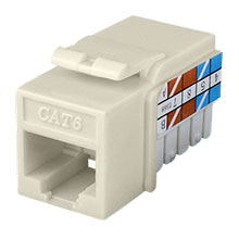 Construct Pro™ Cat6 Keystone Jack (Light Almond) CON3025LA