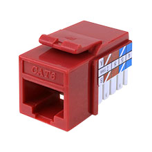 Construct Pro™ Cat6 Keystone Jack (Red)