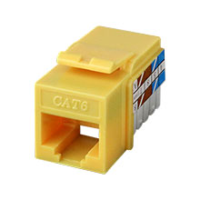 Yellow K.S. RJ-45 Cat 6 CON3025Y