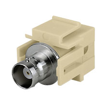 Construct Pro™ BNC Keystone Jack-Pass Through (Ivory)