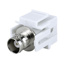 Construct Pro™ BNC Keystone Jack-Pass Through (White) CON3026W
