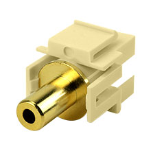 Construct Pro™ 3.5mm Stereo Keystone Insert-Pass Through (Ivory) CON3027I