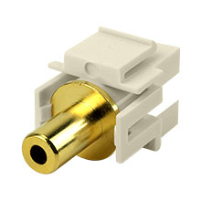 Construct Pro™ 3.5mm Stereo Keystone Insert-Pass Through (Light Almond) CON3027LA
