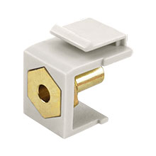 Construct Pro™ Banana Plug Keystone Jack-Solder Type (Light Almond)