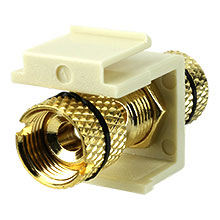 Construct Pro™ Gold-Plated Speaker Binding Post Keystone Insert (Light Almond | Black Band) CON3029KLA