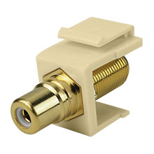 Construct Pro™ F-Connector to RCA Keystone Jack w/ 8 Color Bands (Ivory) CON3030I