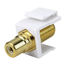 Construct Pro™ F-Connector to RCA Keystone Jack w/ 8 Color Bands (White) CON3030W