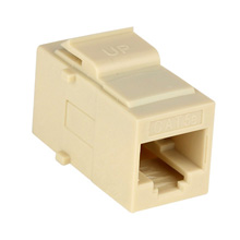 Construct Pro™ Cat5e Keystone Pass-Through Coupler Jack (Ivory)