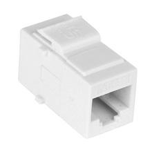 Construct Pro™ Cat5e Keystone Pass-Through Coupler Jack (White)