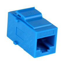 Construct Pro™ Cat6 Keystone Pass-Through Coupler Jack (Blue) CON3034B