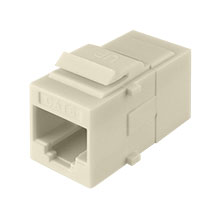Construct Pro™ Cat6 Keystone Pass-Through Coupler Jack (Light Almond) CON3034LA