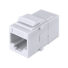 Construct Pro™ Cat6 Keystone Pass-Through Coupler Jack (White) CON3034W