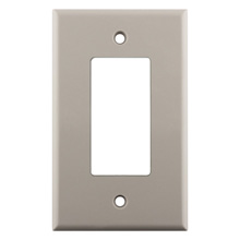 Construct Pro™ Decorative Single Gang Wall Plate (Light Almond)