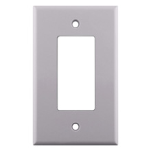 Construct Pro™ Decorative Single Gang Wall Plate (White) CON3040W