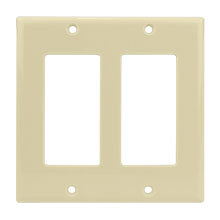 Dual Gang Ivory Decora Wall Plate CON3041I