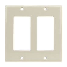 Dual Light Almond Decora Wall Plate CON3041LA