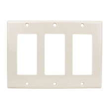 Construct Pro™ Decorative Triple Gang Wall Plate (Light Almond)