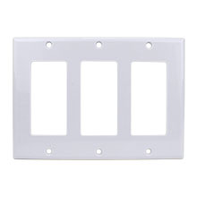 Construct Pro™ Decorative Triple Gang Wall Plate (White)