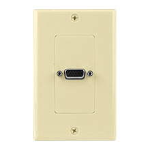 Construct Pro™ VGA Wall Plate-Pass Through (Ivory)