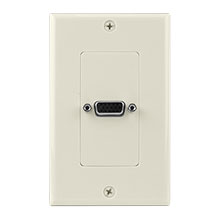 Construct Pro™ VGA Wall Plate-Pass Through (Light Almond)