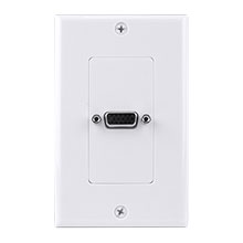 SINGLE VGA WALL PLATE WHITE CON3080W