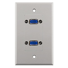 Construct Pro™ Dual VGA Wall Plate-Pass Through (White)