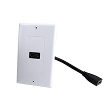 Construct Pro™ Decora Wall Plate with HDMI High Speed with Ethernet Pigtail (White) CON3084W