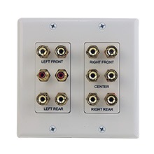 Construct Pro™ 5.2 Surround Sound Home Theater Wall Plate (White) CON3089W
