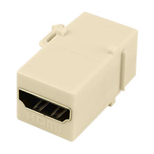 Construct Pro™ HDMI Keystone Jack - Pass-Through (Ivory)