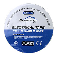 Black Electrical Tape 3/4 CON3119B