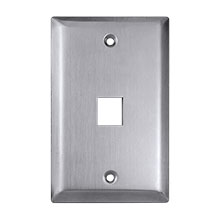Construct Pro™ 1-Port Keystone Wall Plate (Stainless Steel)