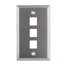 Construct Pro™ 3-Port Keystone Wall Plate (Stainless Steel)