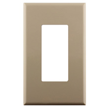 Construct Pro™ Single Gang Décora Style Wall Plate with Screwless Face (Ivory) CON4051I