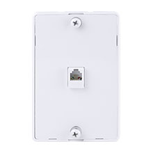White Hanging Phone plate CON7000W