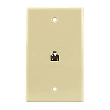 Construct Pro™ Flush Mount Phone Plate (Ivory) CON7001I