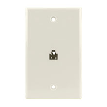 Construct Pro™ Flush Mount Phone Plate (Light Almond)