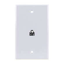 Construct Pro™ Flush Mount Phone Plate (White)