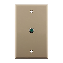 Construct Pro™ Wall Plate with 3.0ghz F-81 Connector (Ivory)