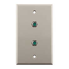 Construct Pro™ Wall Plate with Dual 3.0ghz F-81 Connectors (Light Almond)