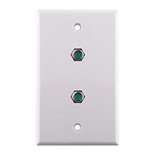 Construct Pro™ Wall Plate with Dual 3.0ghz F-81 Connectors (White) CON7006W