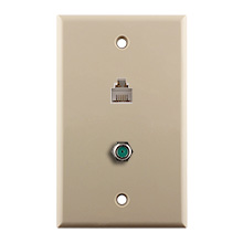 Construct Pro™ 3Ghz F-81 & Phone Wall Plate (Ivory) CON7007I
