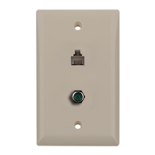 Construct Pro™ 3Ghz F-81 & Phone Wall Plate (Light Almond) CON7007LA