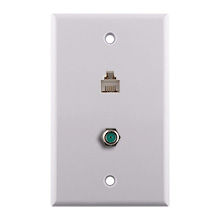 Construct Pro™ 3Ghz F-81 & Phone Wall Plate (White)