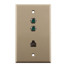 Construct Pro™ Dual 3Ghz F-81 & Phone Wall Plate (Ivory)