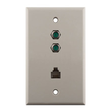 Construct Pro™ Dual 3Ghz F-81 & Phone Wall Plate (Light Almond) CON7008LA