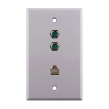 Construct Pro™ Dual 3Ghz F-81 & Phone Wall Plate (White) CON7008W