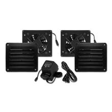 Cool Components PK-HFL-BLK HIFLO Vent Package, black
